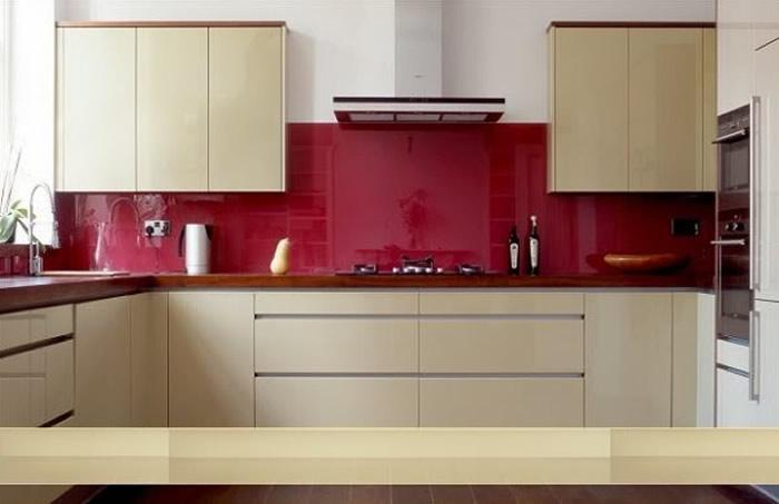 Kính màu ốp bếp tại Vinh Nghệ AN
